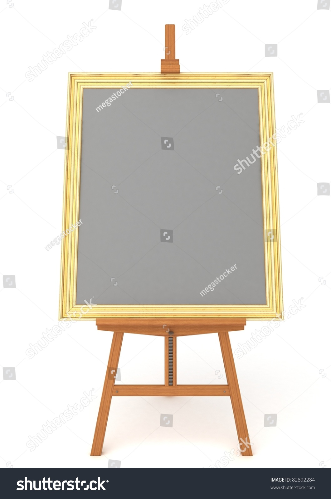 easel with frame isolated on white background - Easel Picture Frame