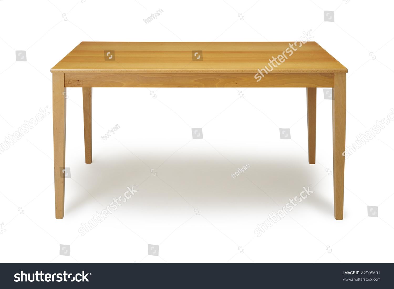 Wooden Table White Background Stock Shutterstock