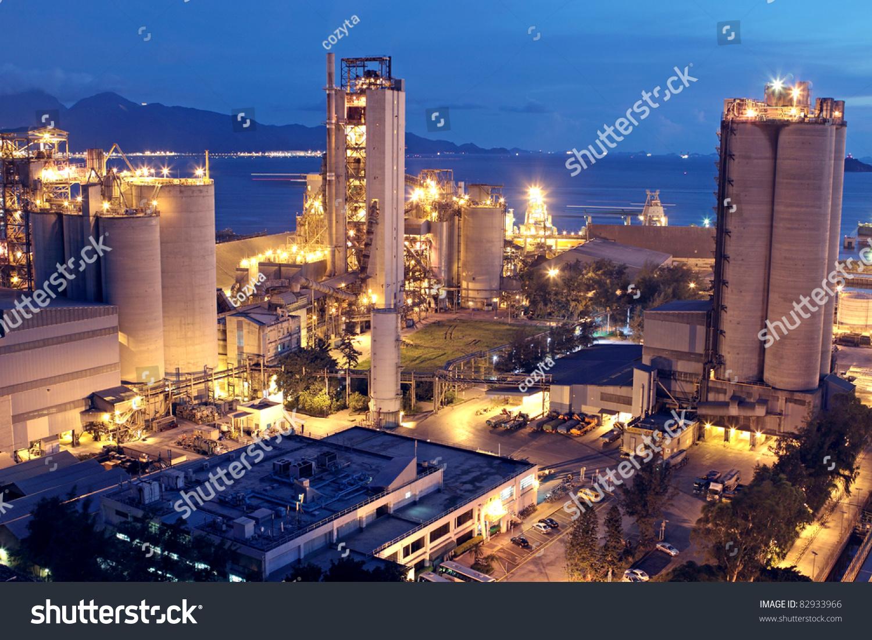 Idaho Cement Plants : Cement plantconcrete factory heavy industry stock