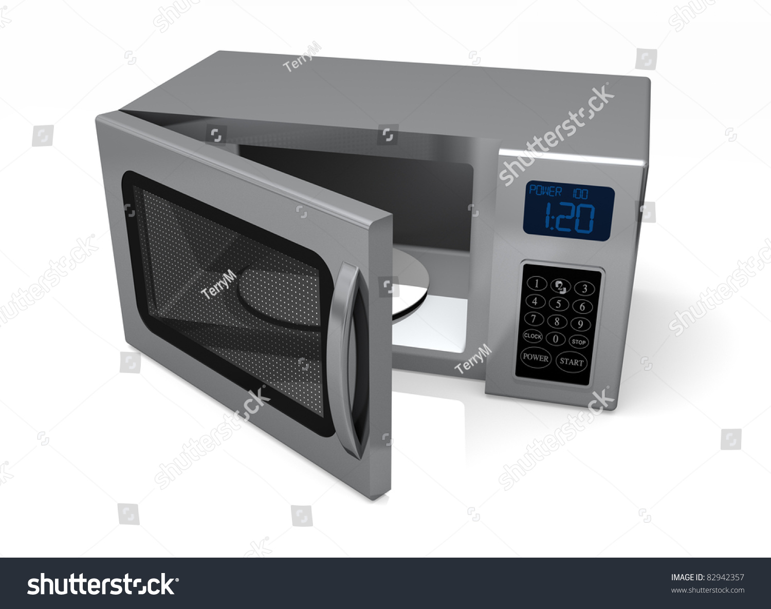 Image Gallery open microwave door