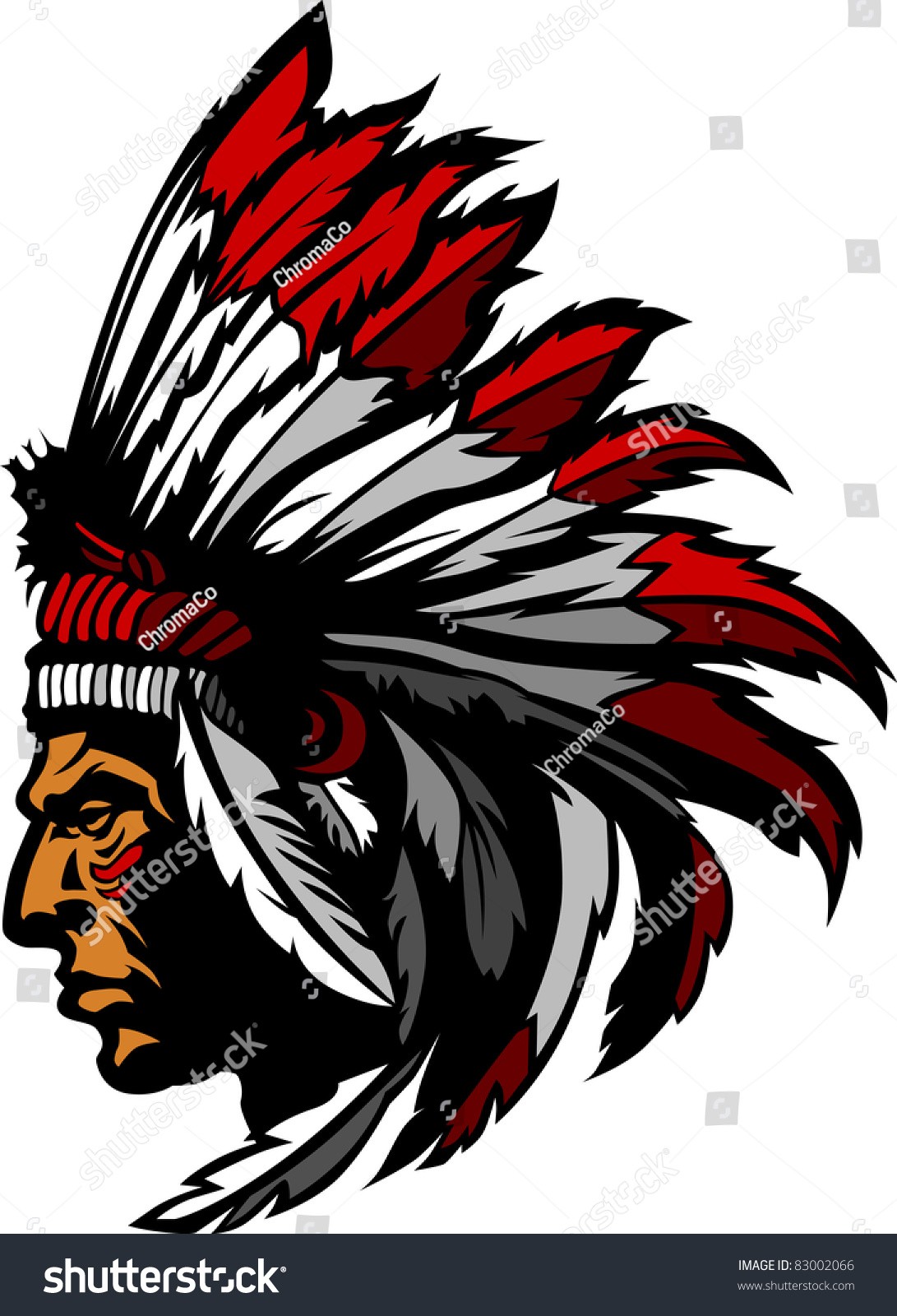 Superb Indian Chief Head #5: Indian Chief Head Graphic