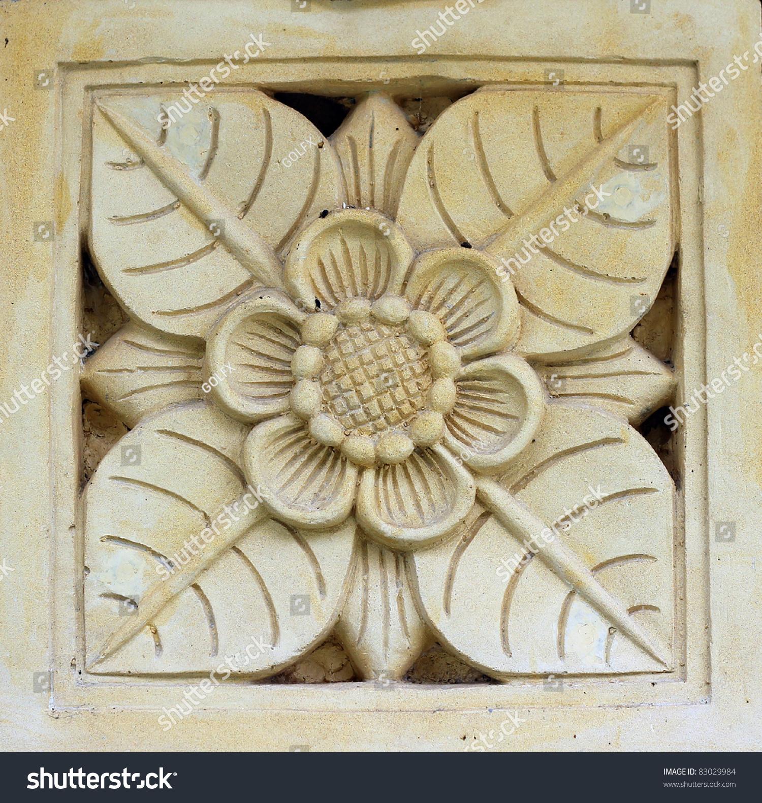 Flower stone carving stock photo shutterstock
