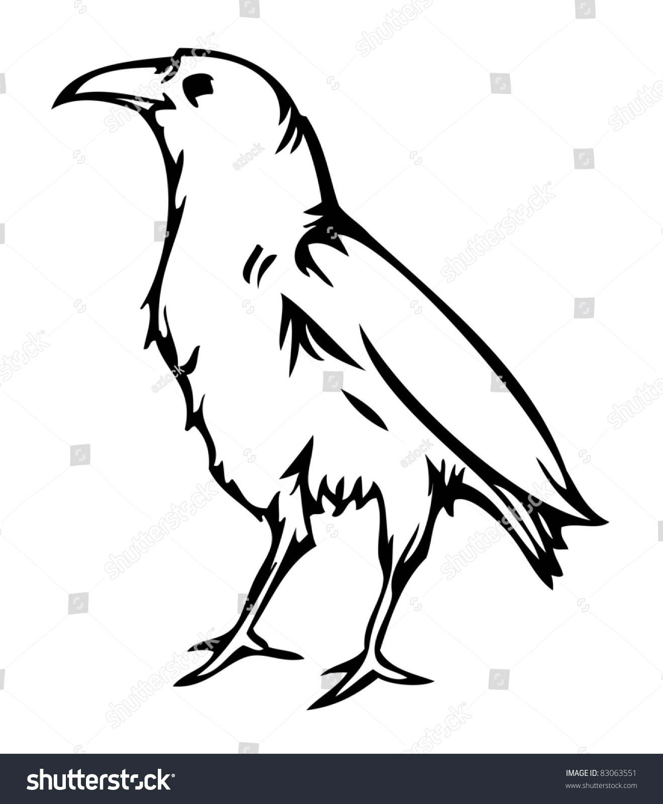 Line Drawing Raven : Simple crow drawing imgkid the image kid has it