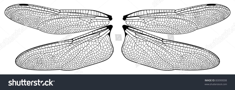 Dragonfly Wings Stock Vector 83090008 Shutterstock