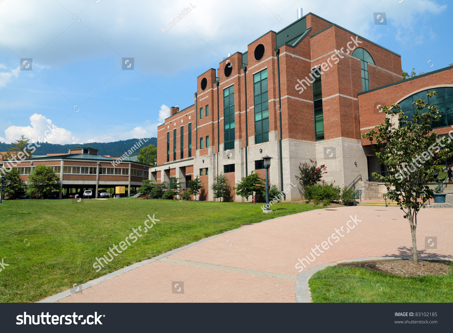 Modern Educational/Office Building On Campus Stock Photo ...