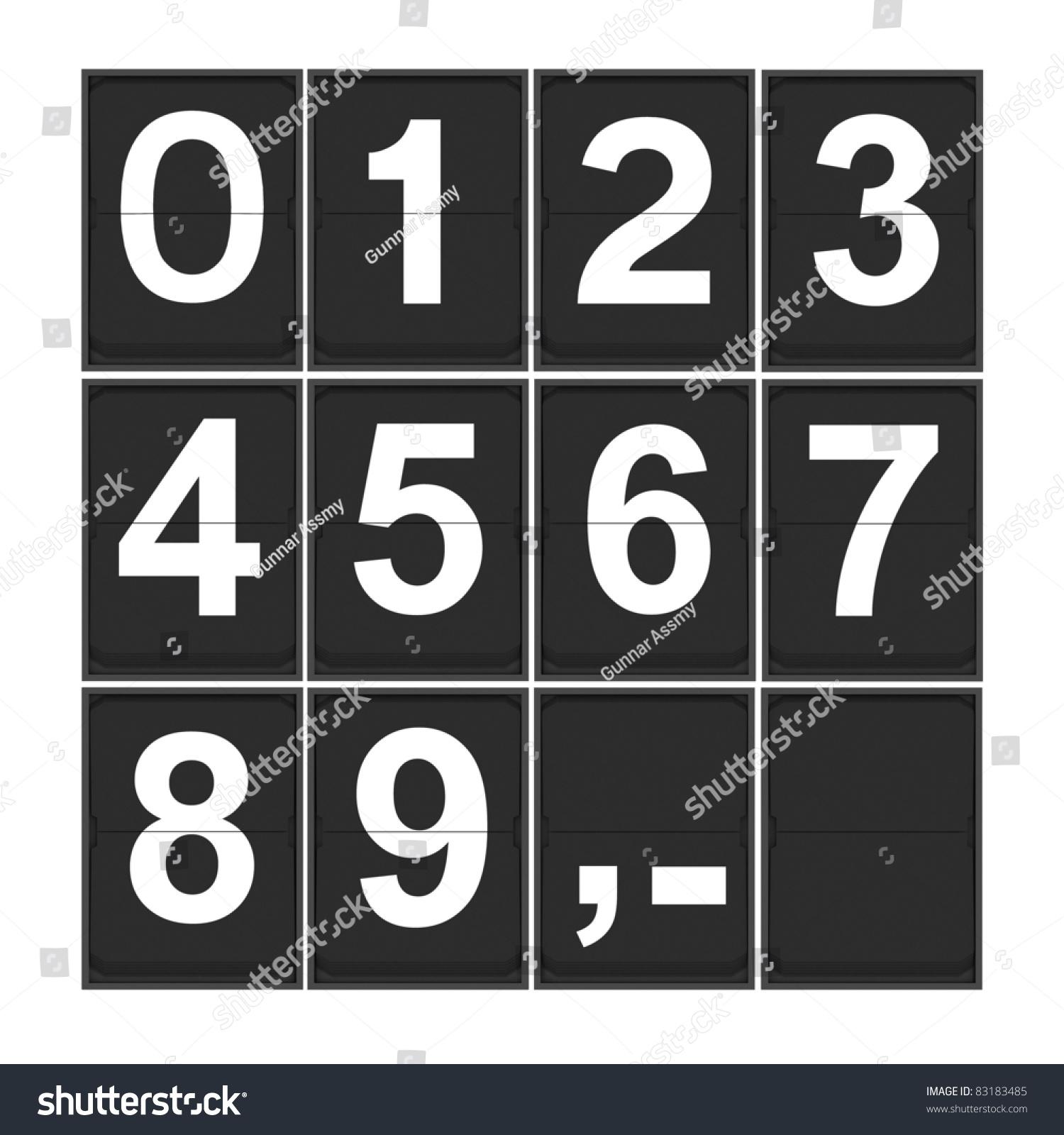 Flip Clock Number Template Photo 83183485 Shutterstock – Number Template