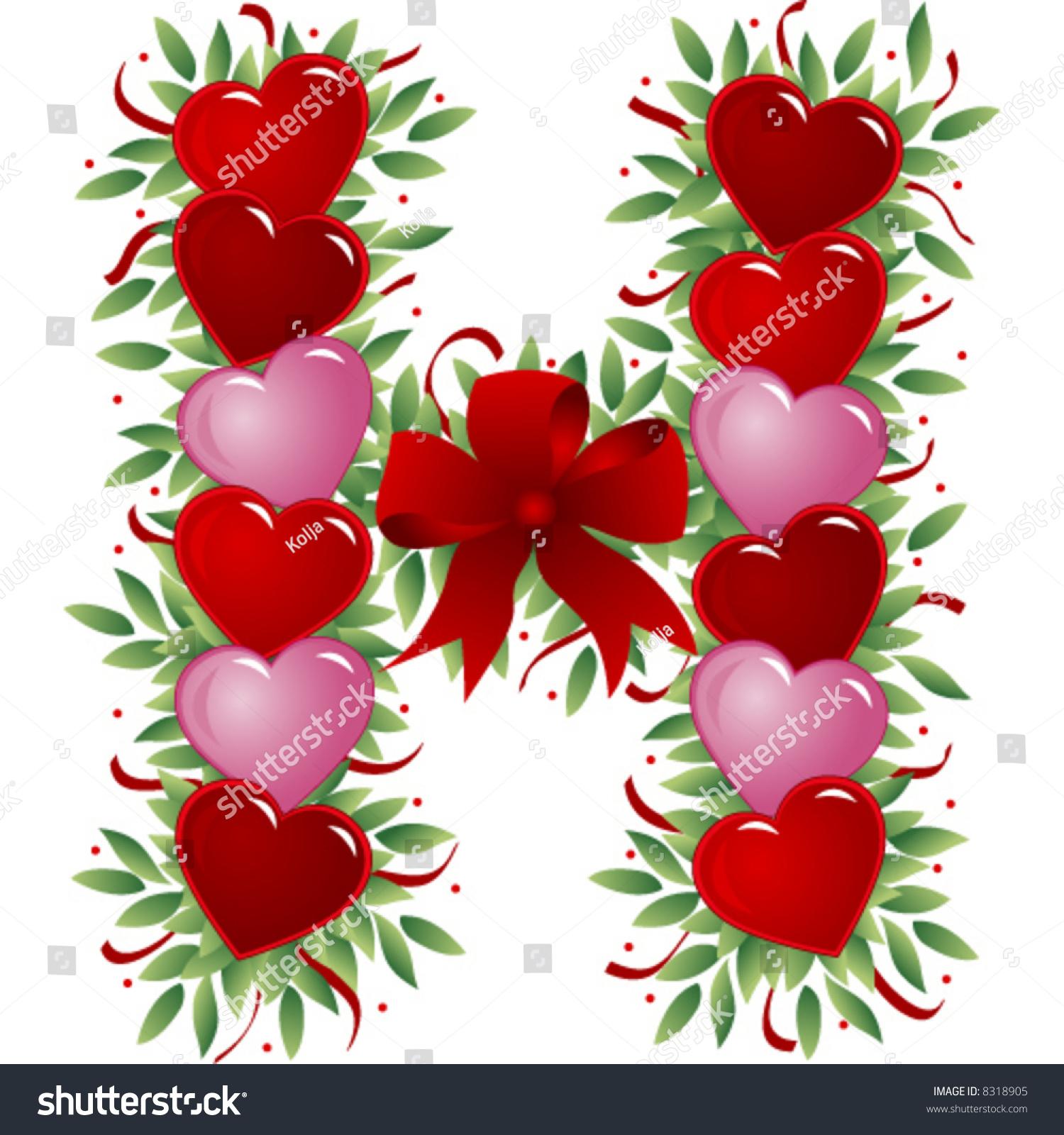 H Letter In Love Letter H - Valentine'S...