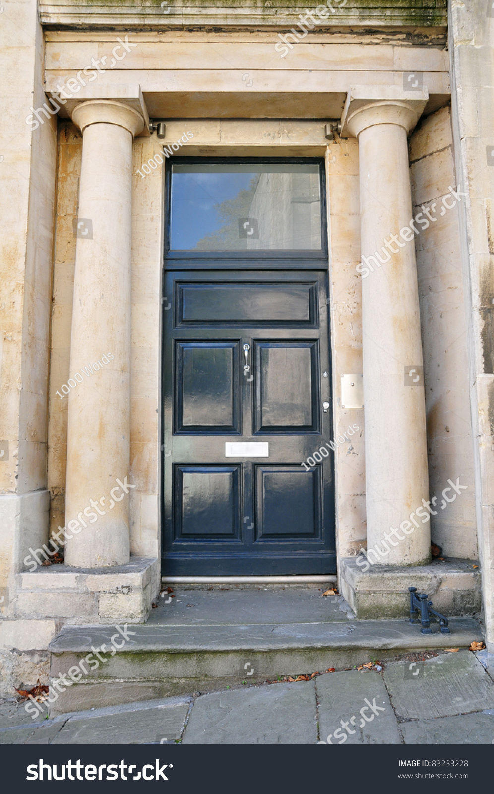 Front Door Doric Columns Georgian Era Stock Photo 83233228 - Shutterstock & Front Door Doric Columns Georgian Era Stock Photo 83233228 ...