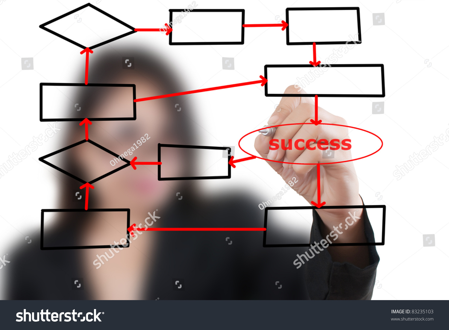 Asian business lady writing flow chart stock illustration 83235103 asian business lady writing flow chart plan on the whiteboard nvjuhfo Image collections