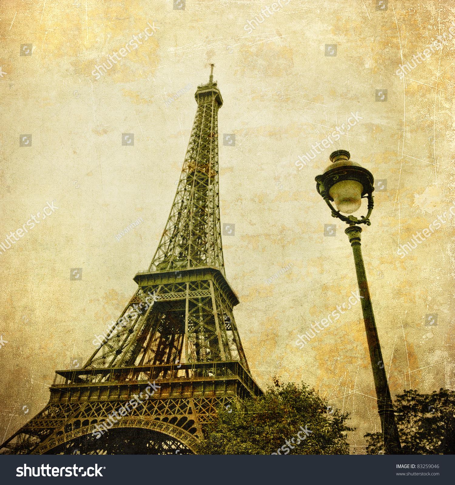 3eb345c8f7e9 Vintage Image Eiffel Tower Paris France – stock ilustrace 83259046 ...