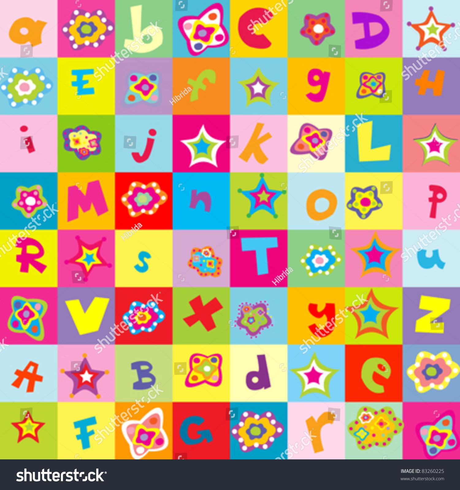Worksheet Kindergarten Letters background with letters and flowers for kindergarten stock vector illustration 83260225 shutterstock