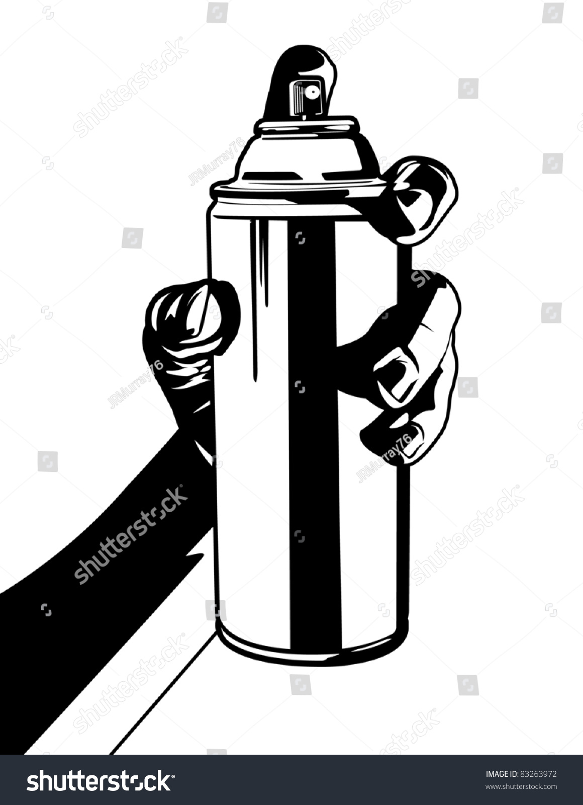 holding can spray paint stock vector 83263972 shutterstock