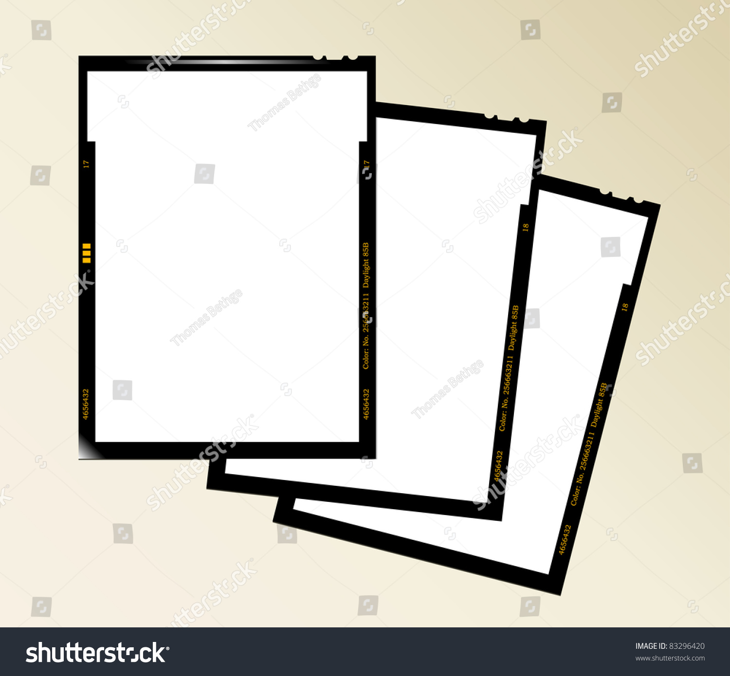 Large Format Film Sheet Negative Set Stock Vector (2018) 83296420 ...