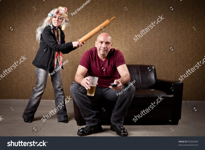 Жена бьёт мужа прикольные картинки 5