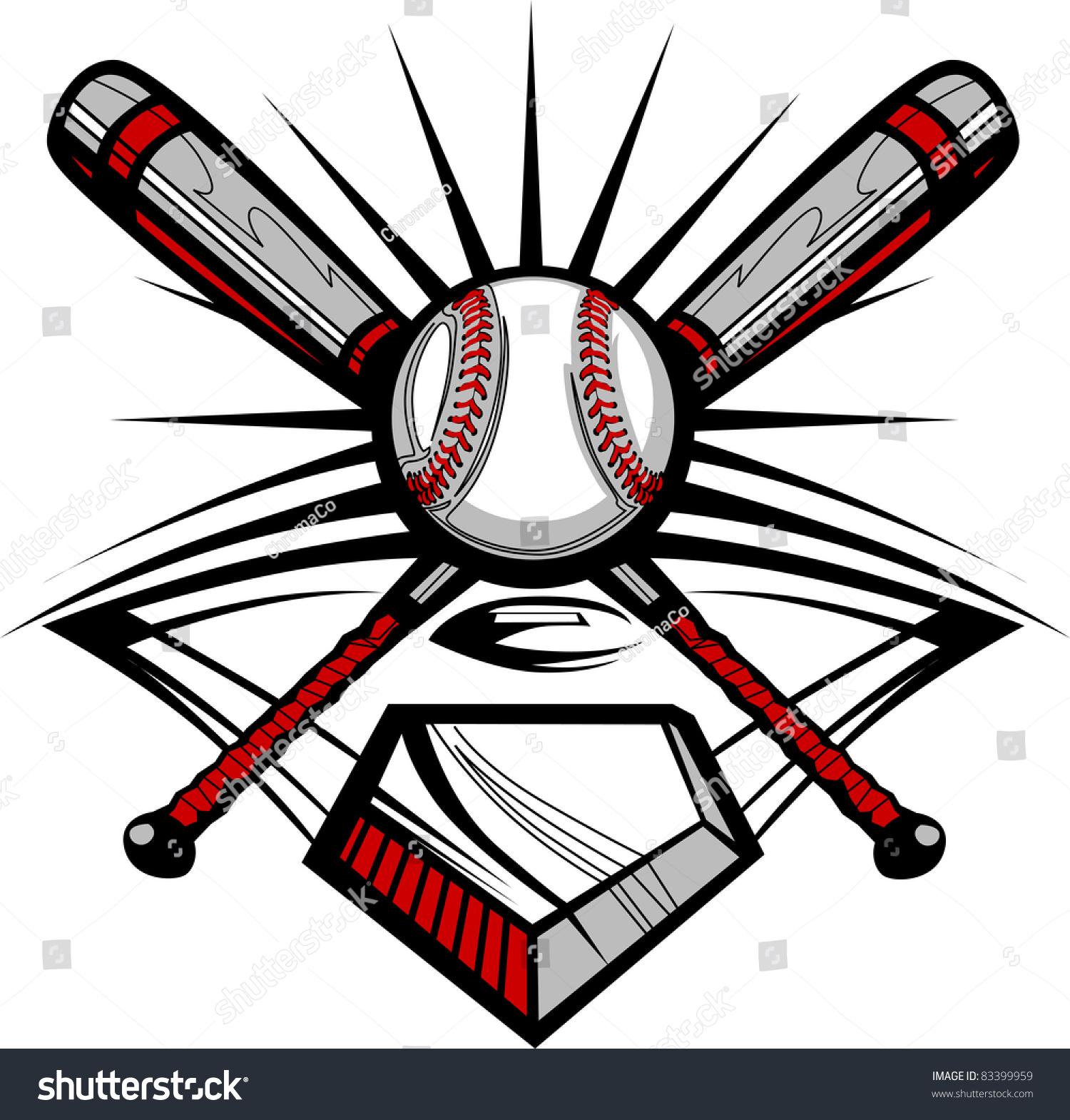 BASEBALL BAT AND BALL VECTOR - Download at Vectorportal  |Baseball Bat And Ball Vector