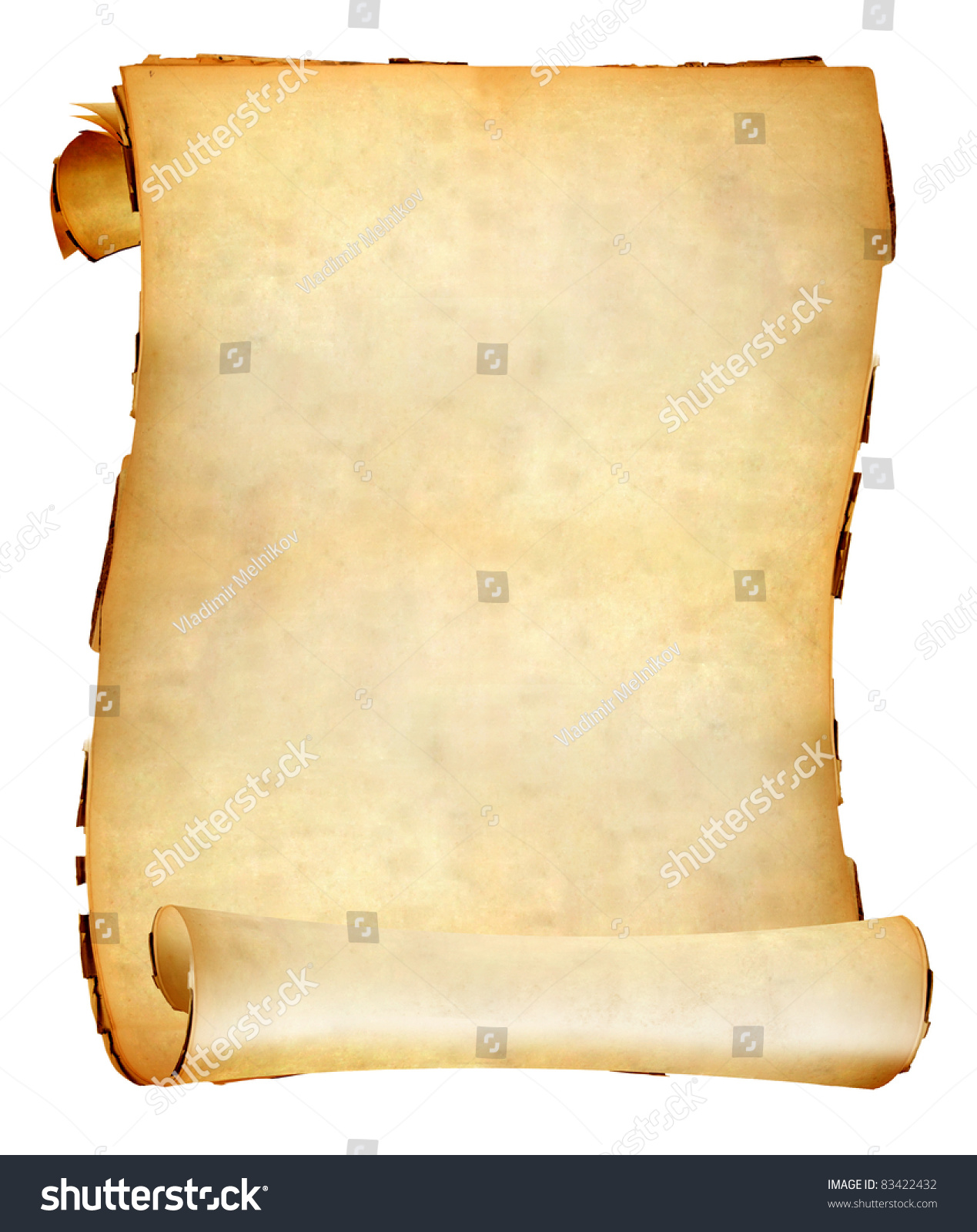 vintage paper scroll soft shades on stock photo 83422432