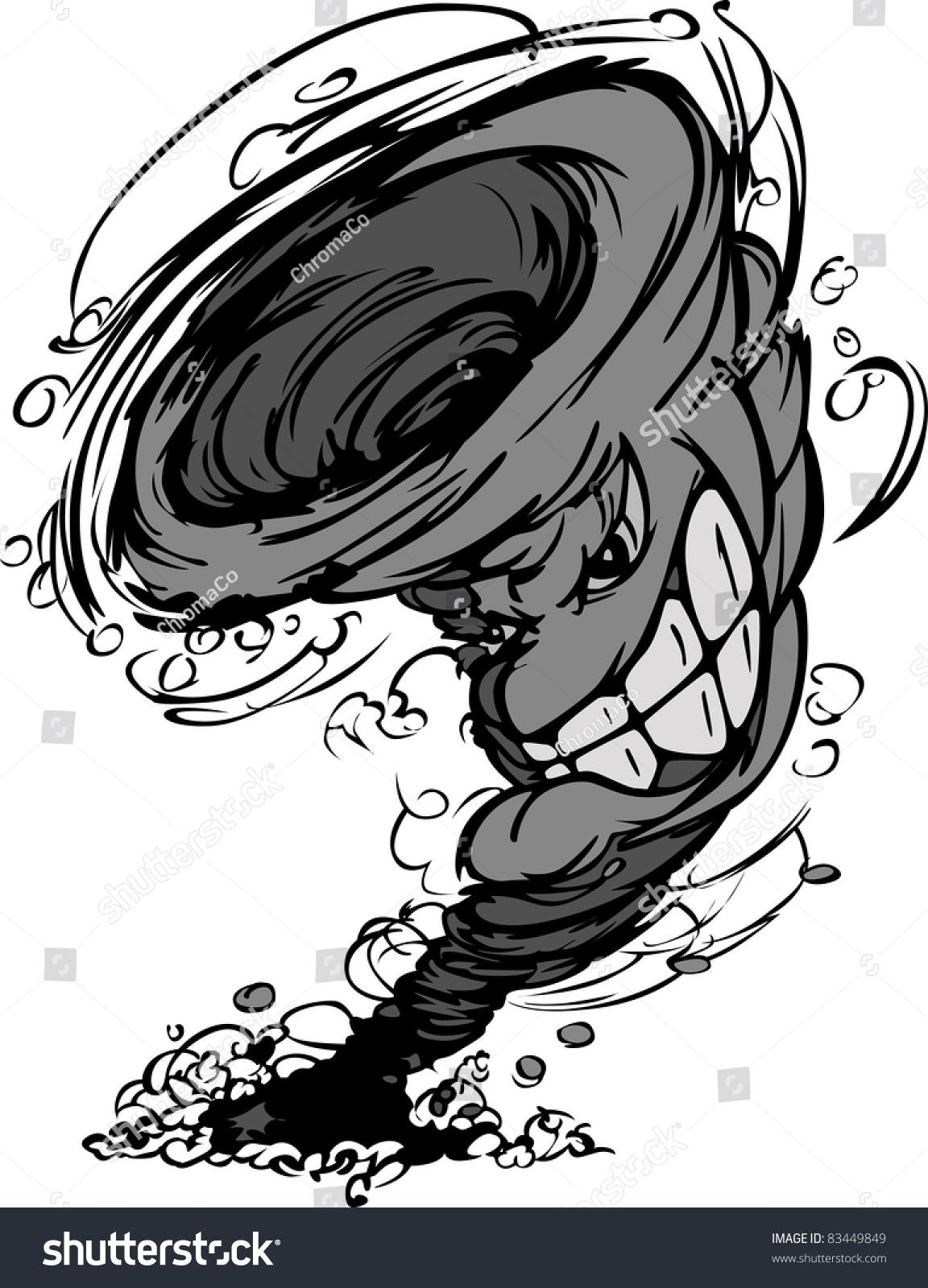 Cartoon of an Angry Lightning Storm Cloud Mascot - Royalty ...   Cartoon Storm