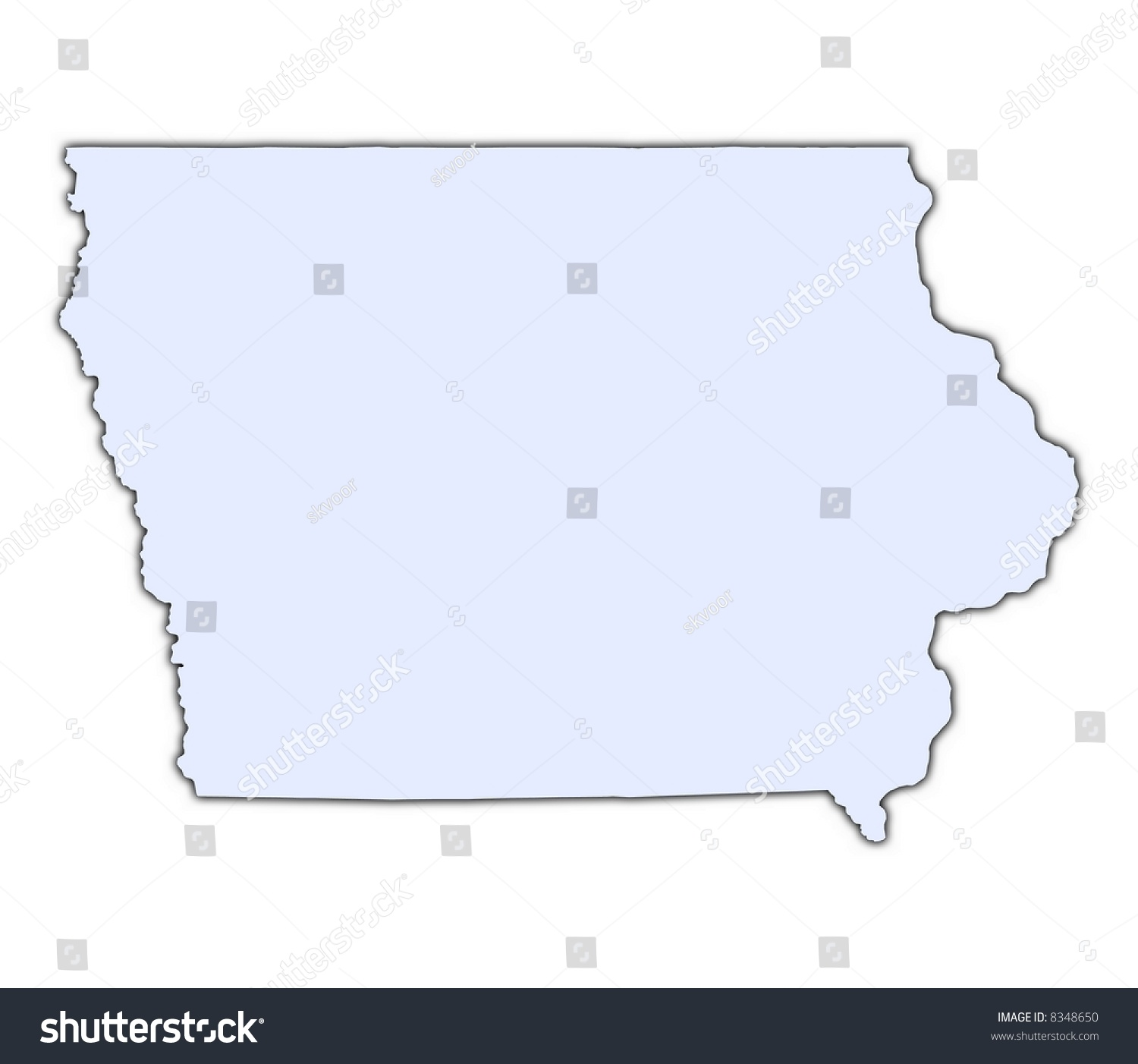 Reference Map Of Iowa USA Nations Online Project Map Usa Iowa - Iowa usa map