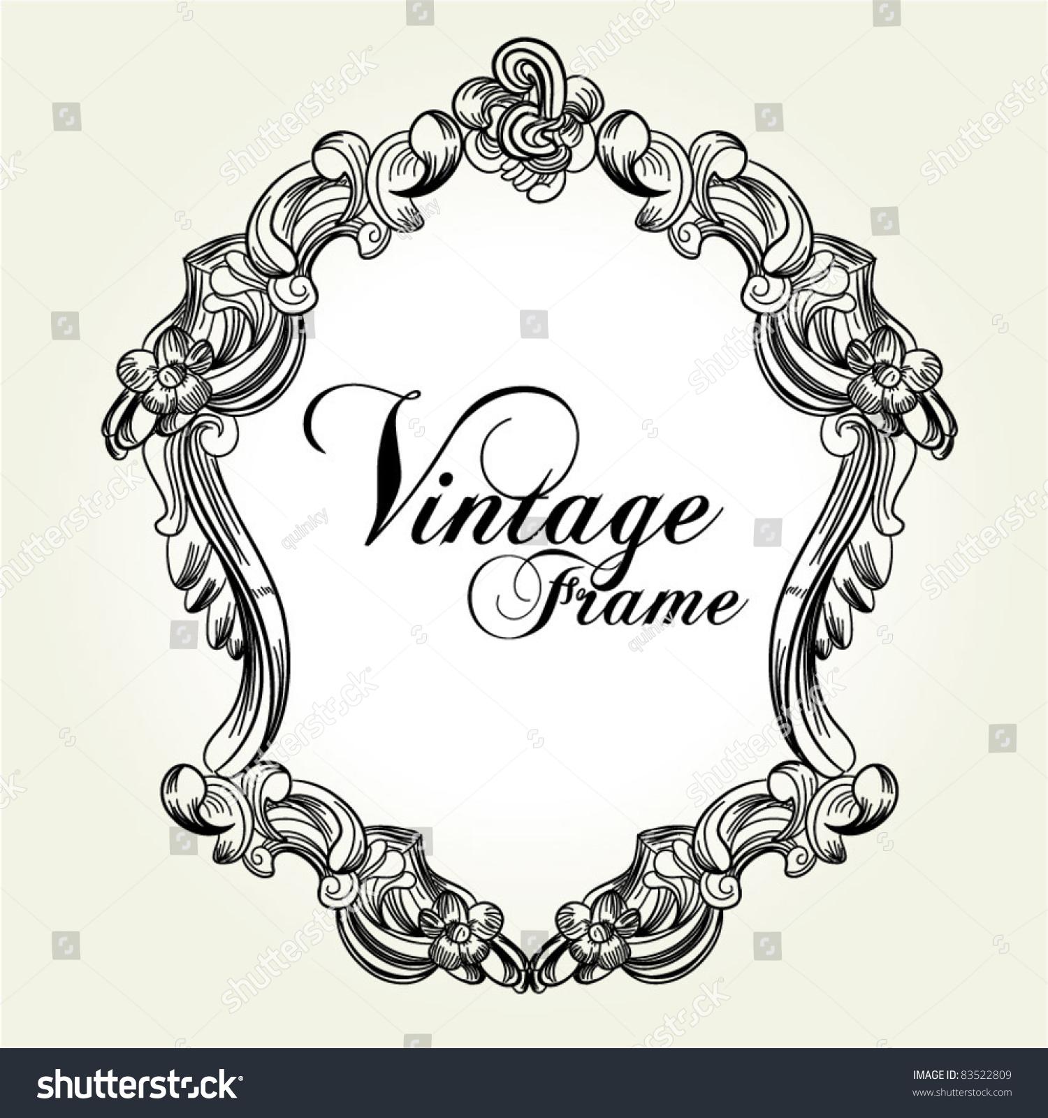 elegant vintage victorian frame stock vector 83522809