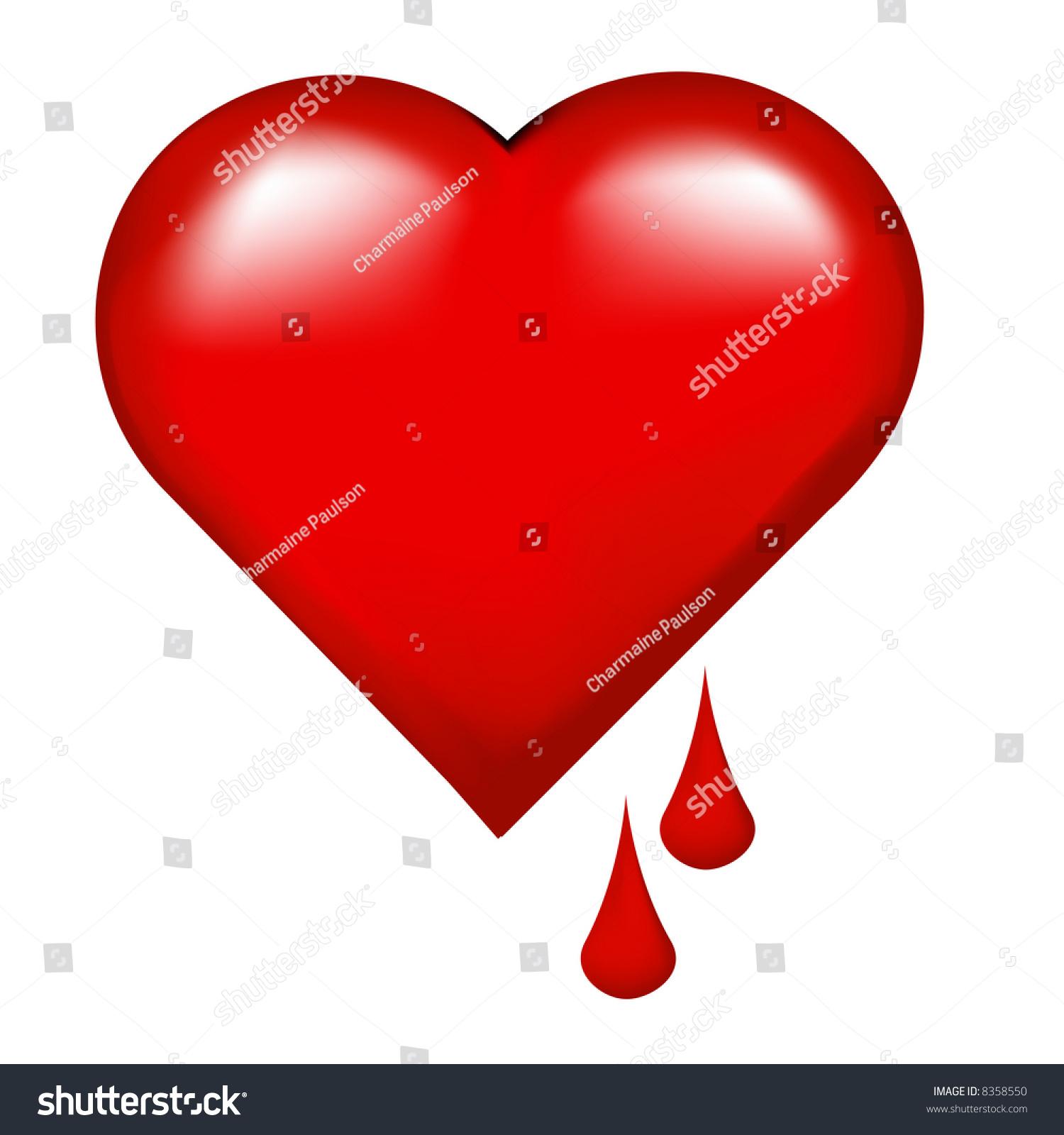 One large bleeding heart broken hearted stock illustration 8358550 one large bleeding heart for the broken hearted buycottarizona