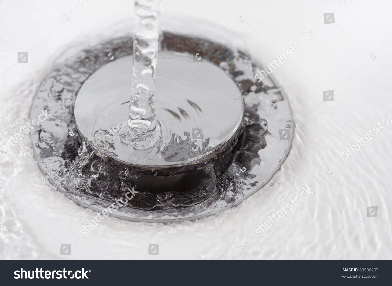Running Water On Drain Stopper Plug Stock Photo 83596207 ...
