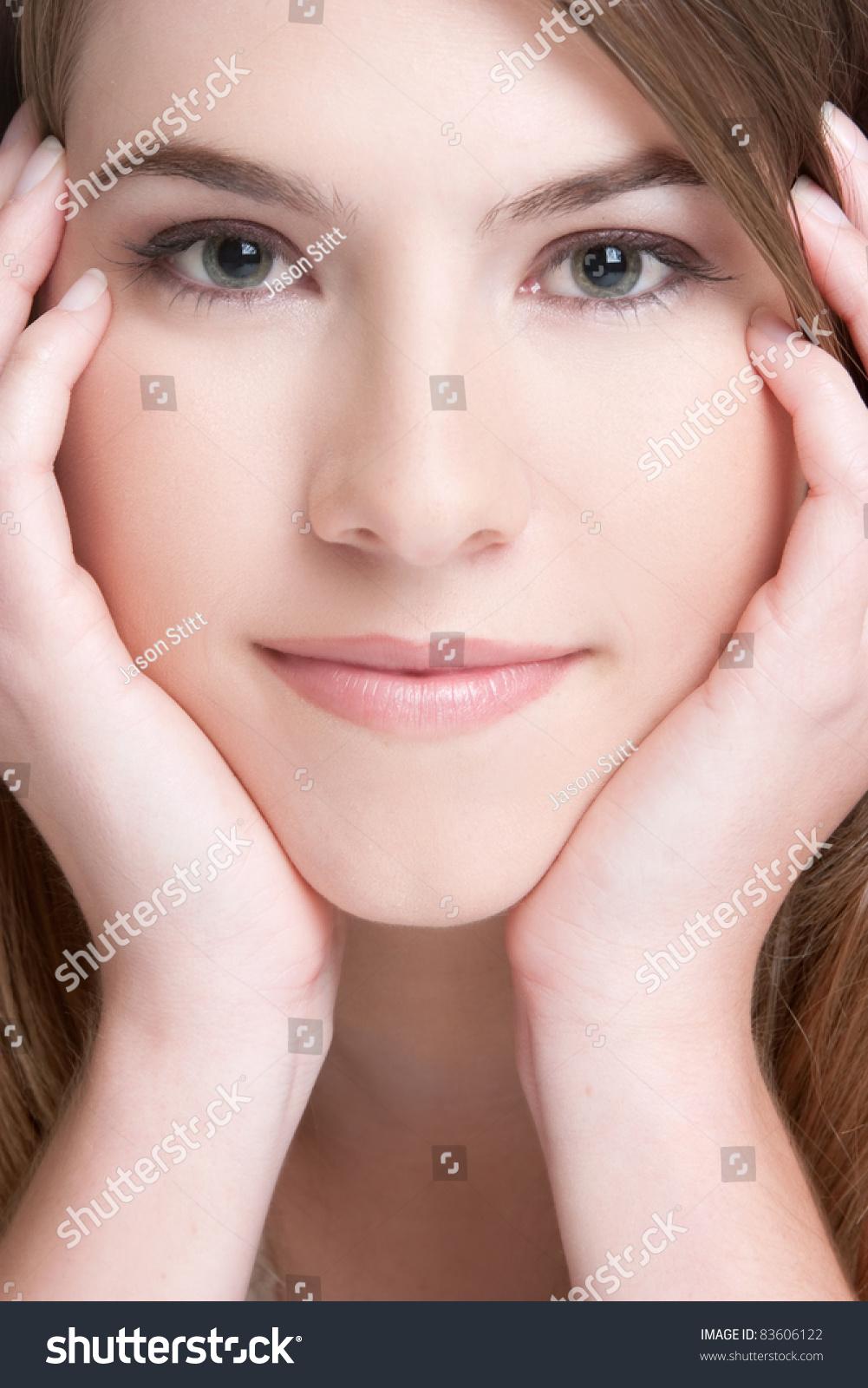 Фото красивого лица крупным планом 15 фотография