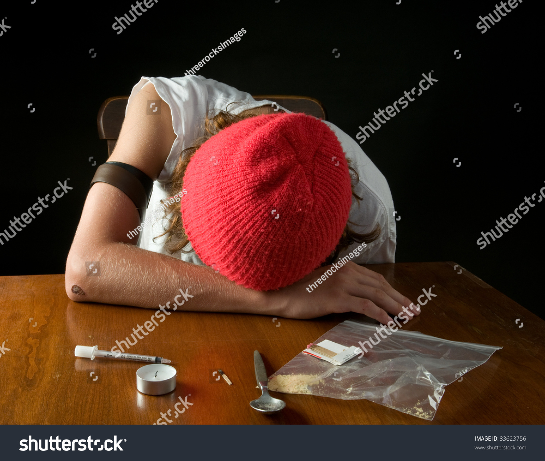 After Shooting Heroin Teen Boy Stupor Stock Photo 83623756