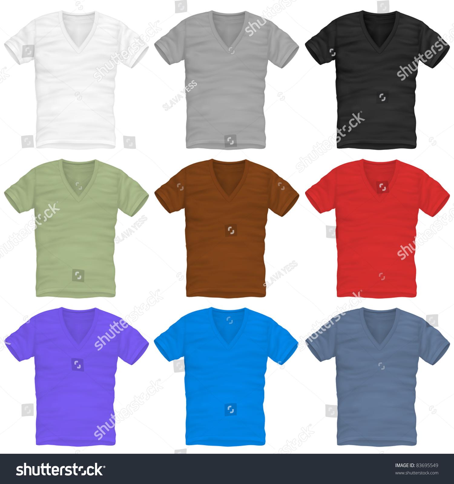 Design shirt v neck - Vector V Neck T Shirt Design Template