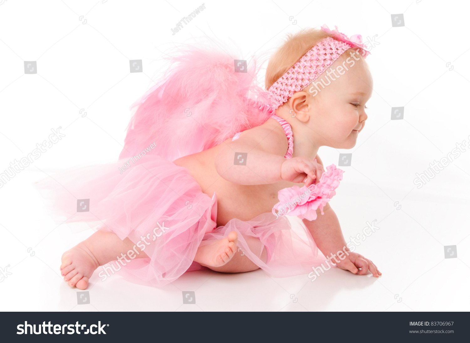 cute little baby girl dressed angel stock photo (edit now) 83706967