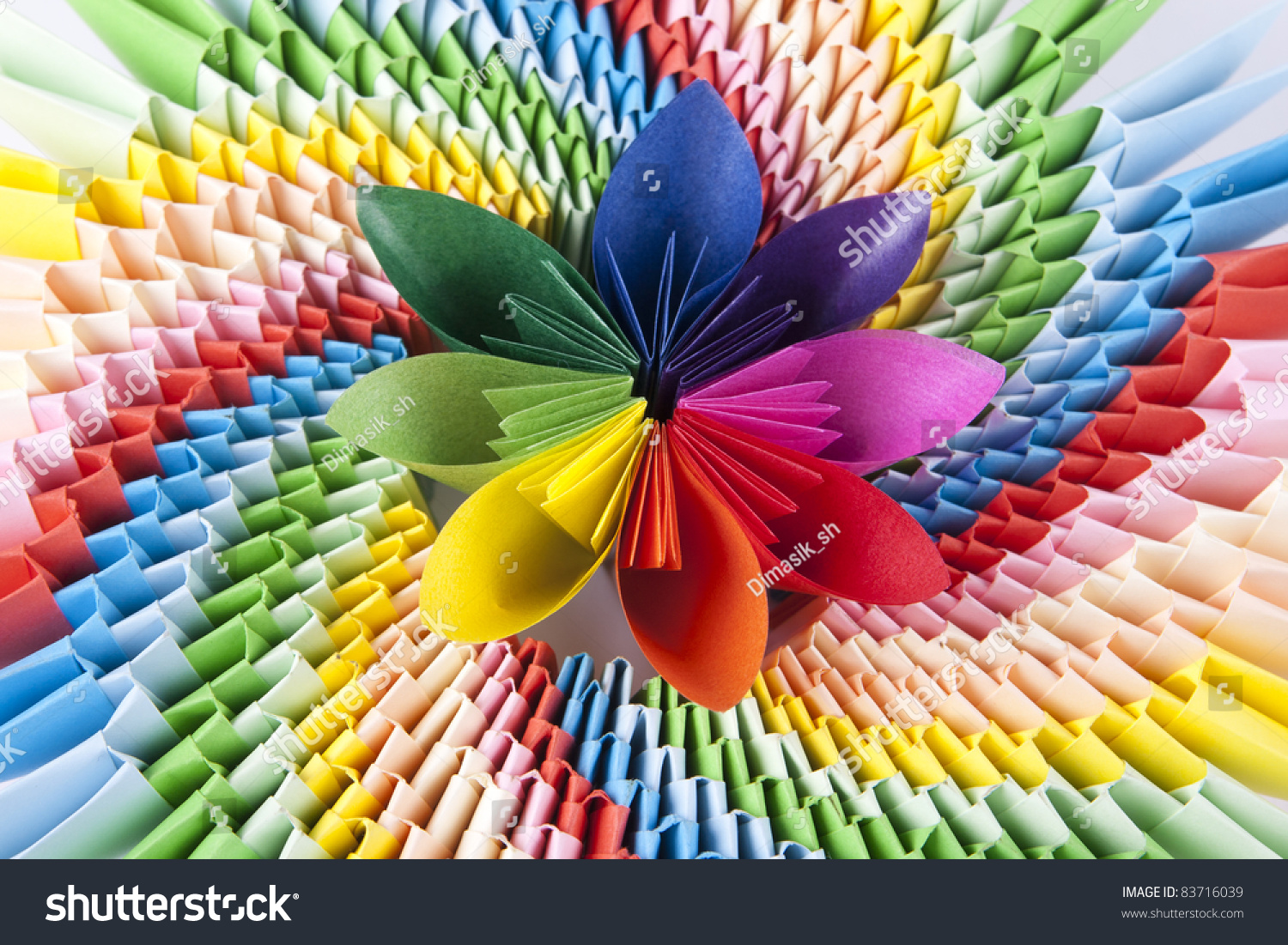 Colorful Flower Kusudama On Bright Modular Stock Photo Edit Now