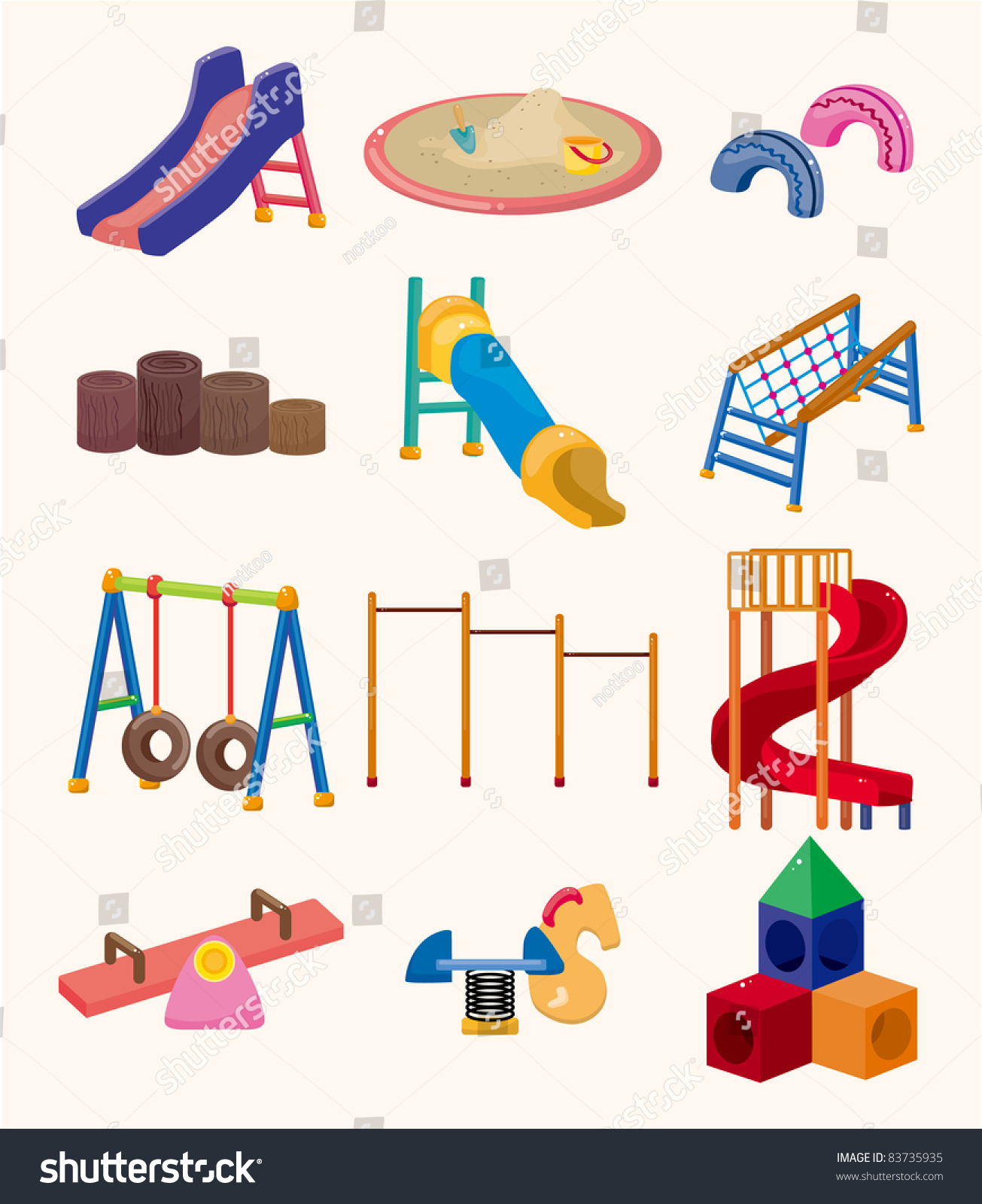 cartoon park playground icon stock vector 83735935 Outdoor Clip Art Black and White Outdoor Clip Art Black and White