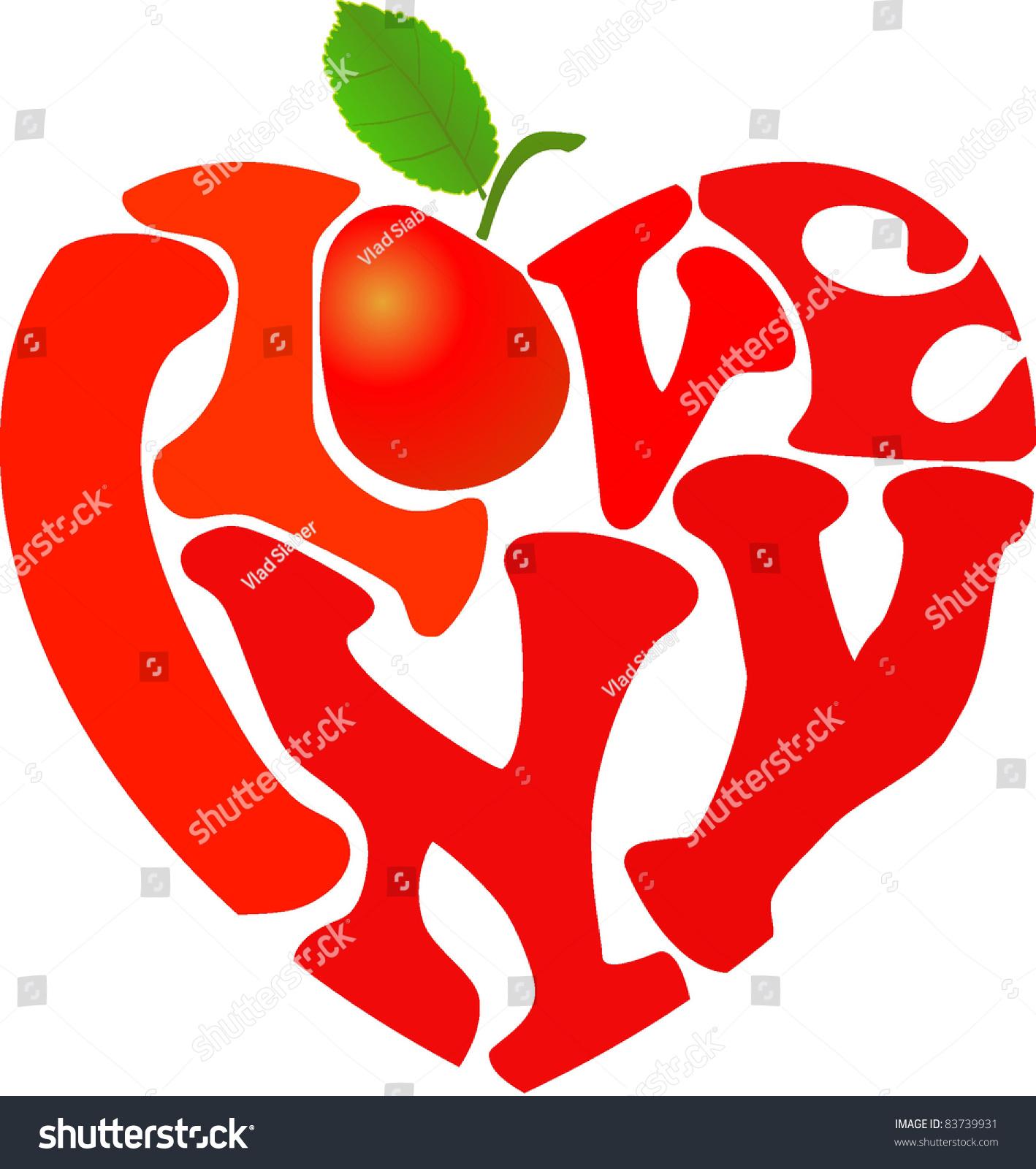 Words i love ny apple shaped stock vector 83739931 shutterstock words i love ny and apple shaped in heart symbol biocorpaavc