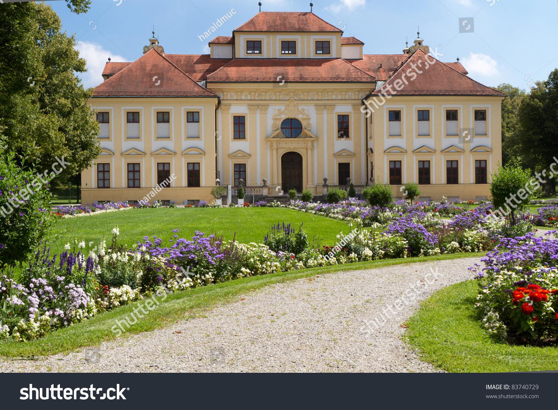 lustheim castle west side outside munich stock photo 83740729 shutterstock. Black Bedroom Furniture Sets. Home Design Ideas