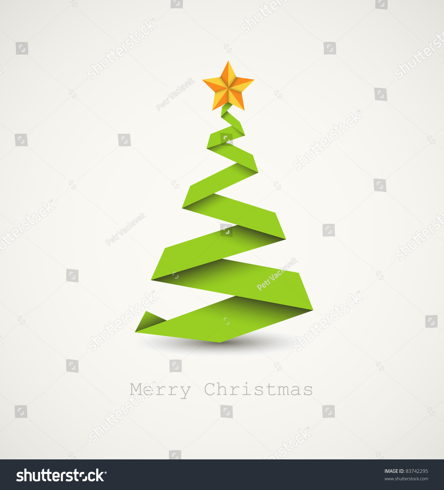 Simple Vector Christmas Tree Made From Paper Stripe ... - photo#29