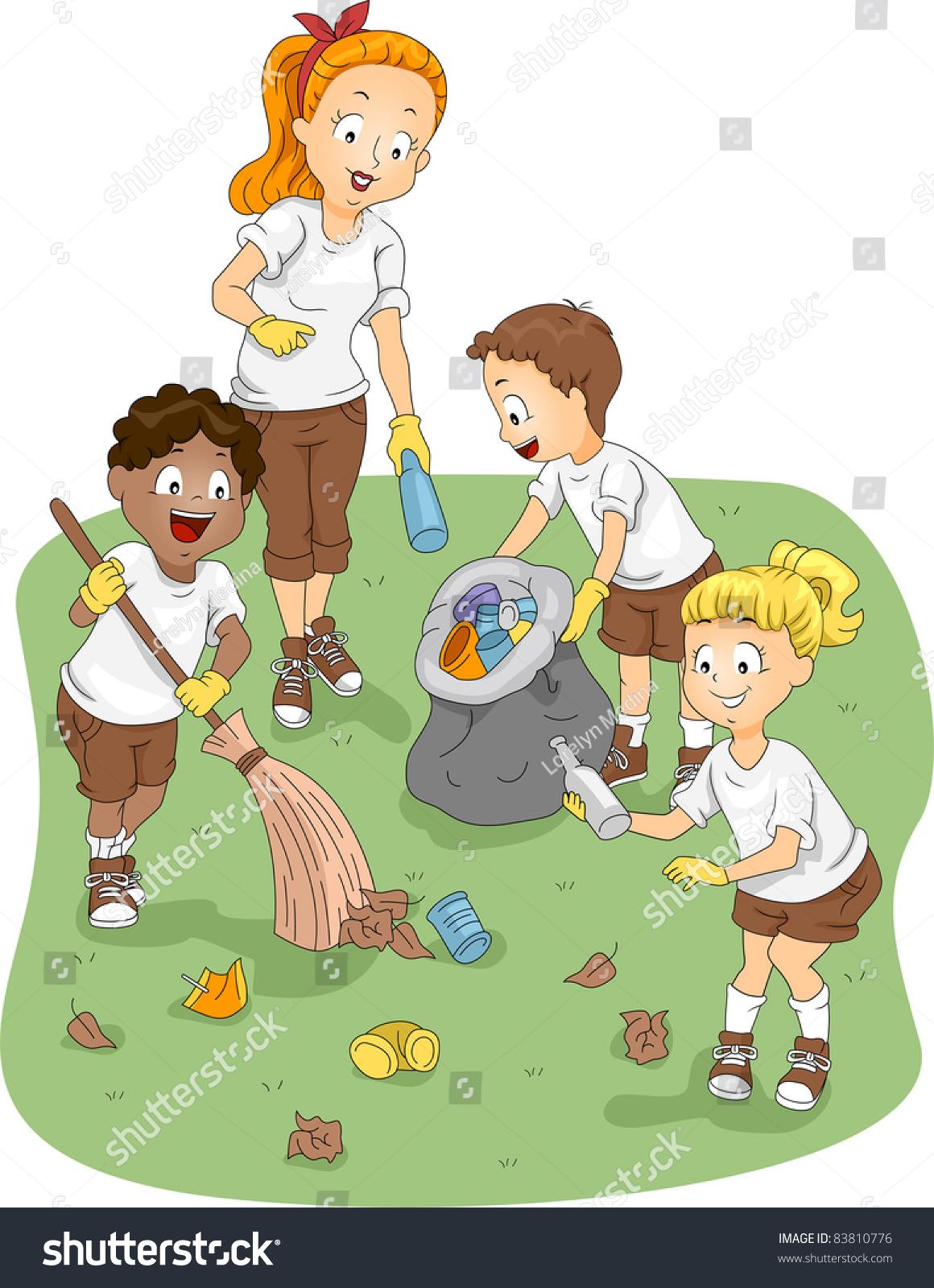 Illustration Kids Clea...