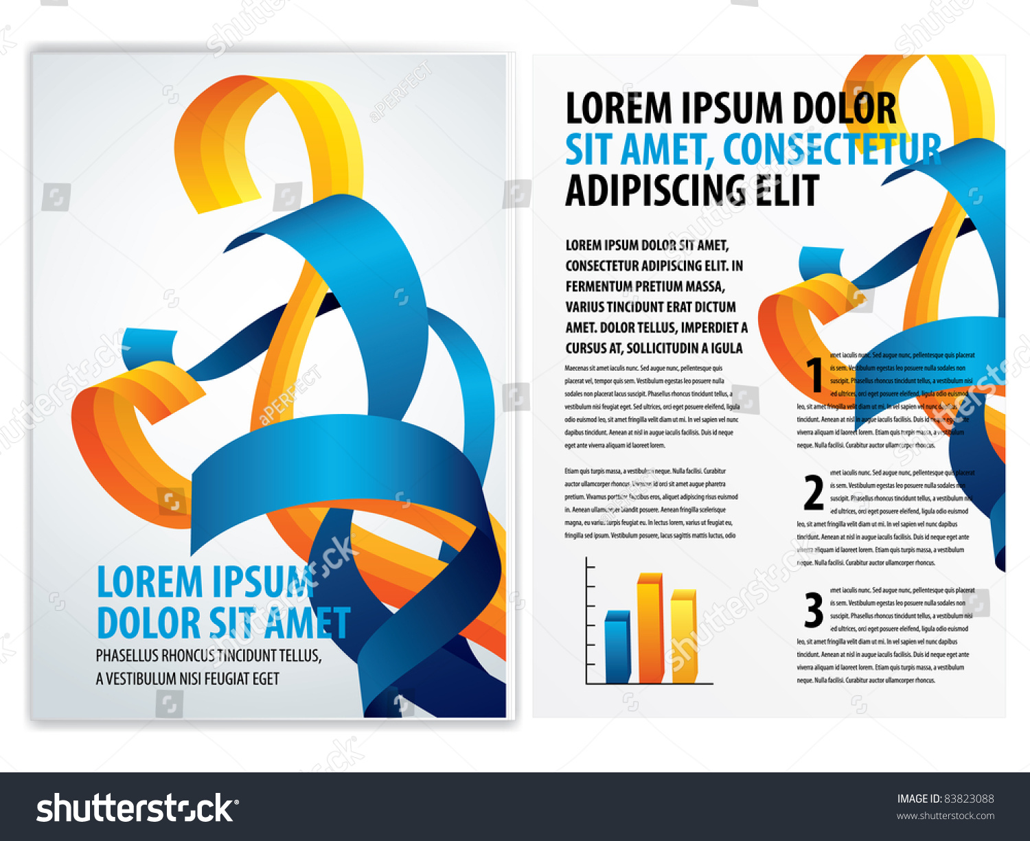 Vector business brochure booklet template 83823088 for Brochure booklet templates