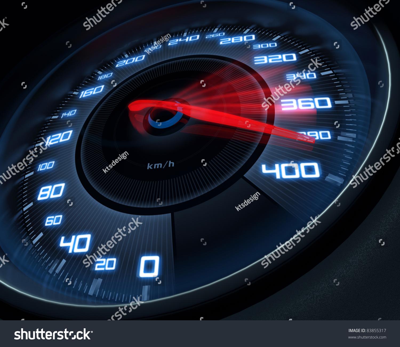 Speedometer Scoring High Speed In A Fast Motion Blur ...