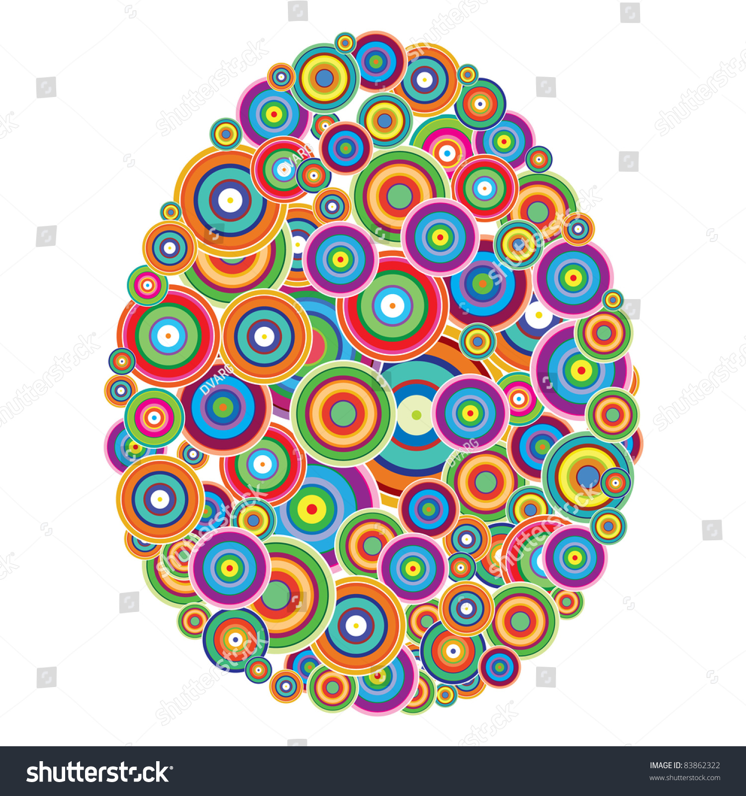 Raster Version Easter Egg Abstract Seamless Stock Photo