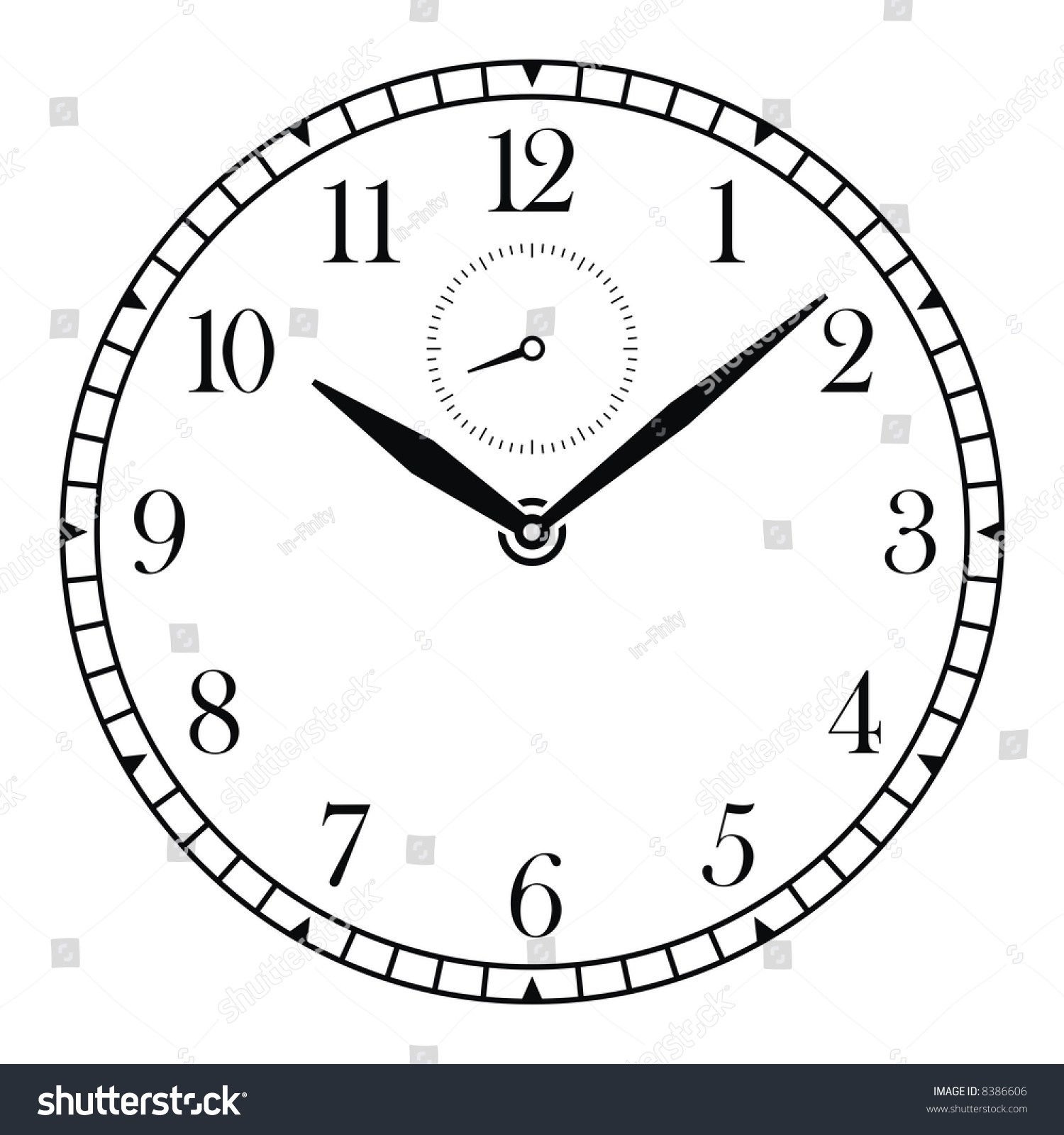 worksheet Clock Face With Hands vector clock face hands stock 8386606 shutterstock and hands