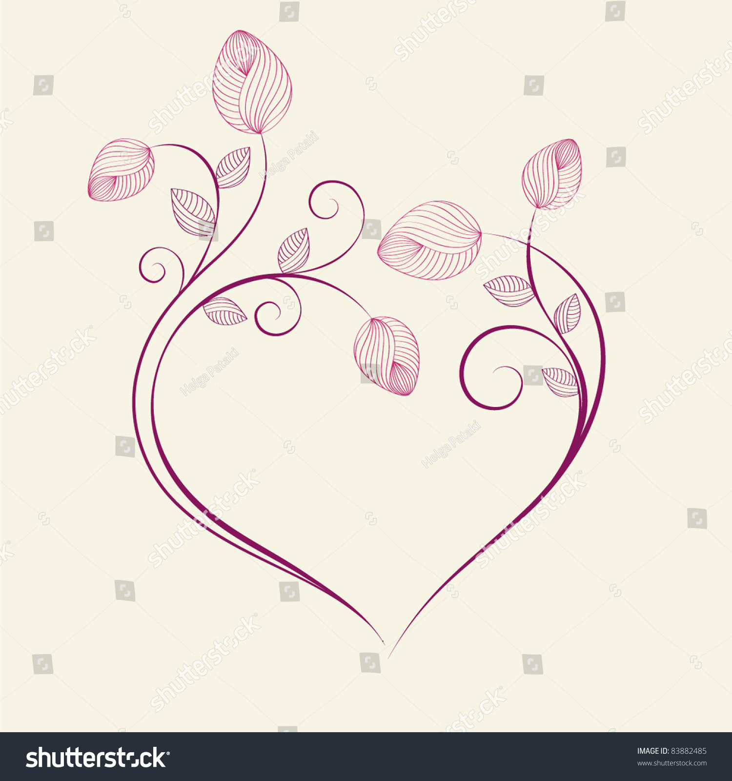 Abstract Flower Background With Decoration Elements For: Abstract Floral Background Vector Heart Flower Stock
