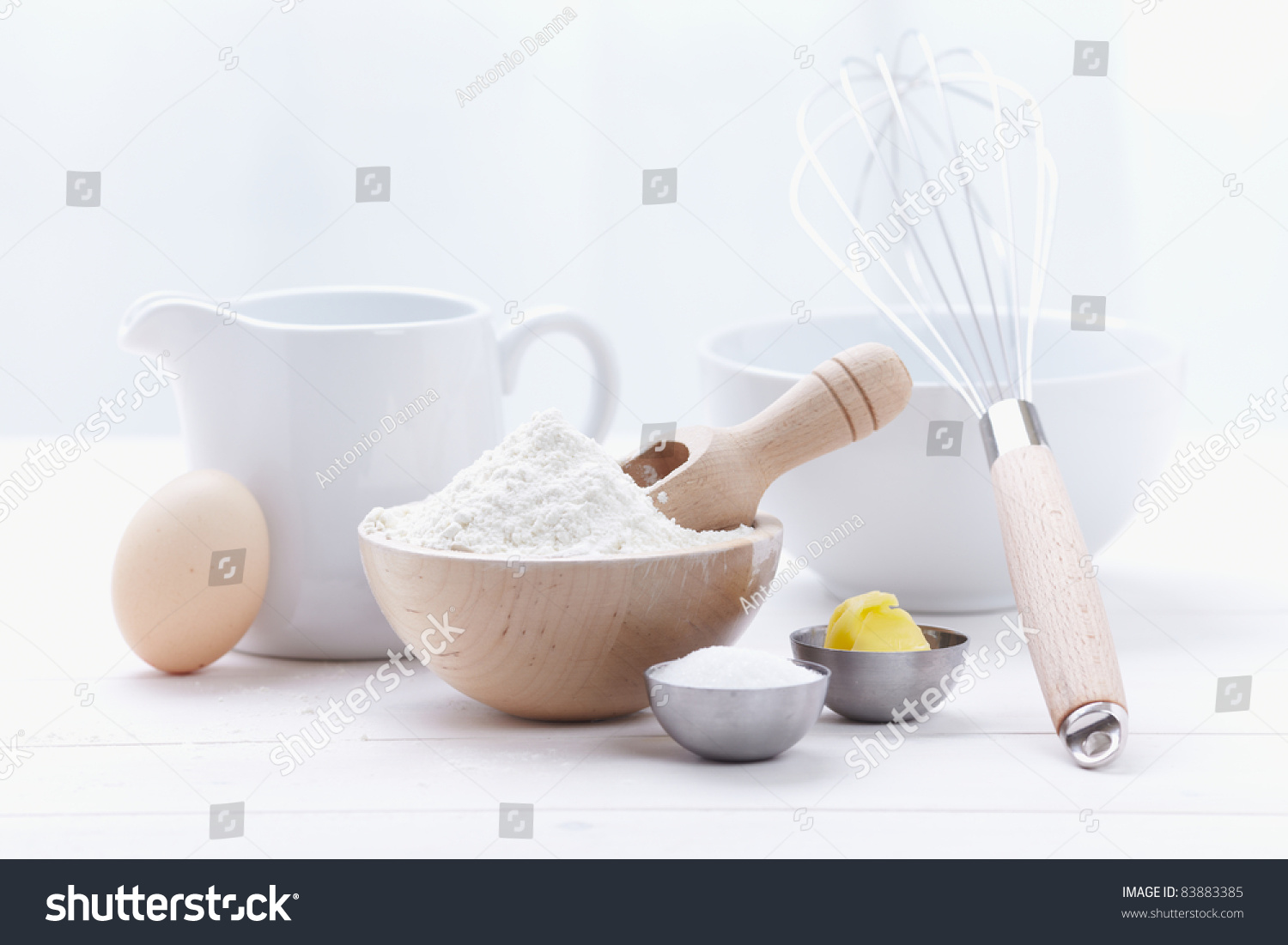 Ingredients tools make cake flour butter stock photo for What are the ingredients to make a cake