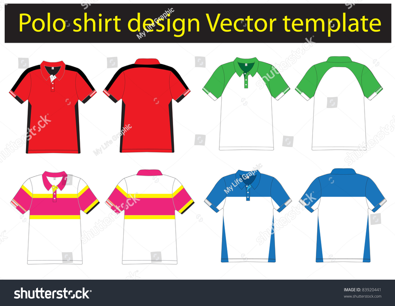 polo shirt design lined vector template for design work 83920441 shutterstock. Black Bedroom Furniture Sets. Home Design Ideas