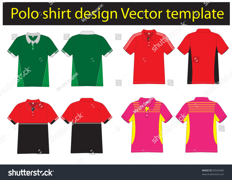 Polo shirt design vector - Polo Shirt Design Lined Vector Template For Design Work