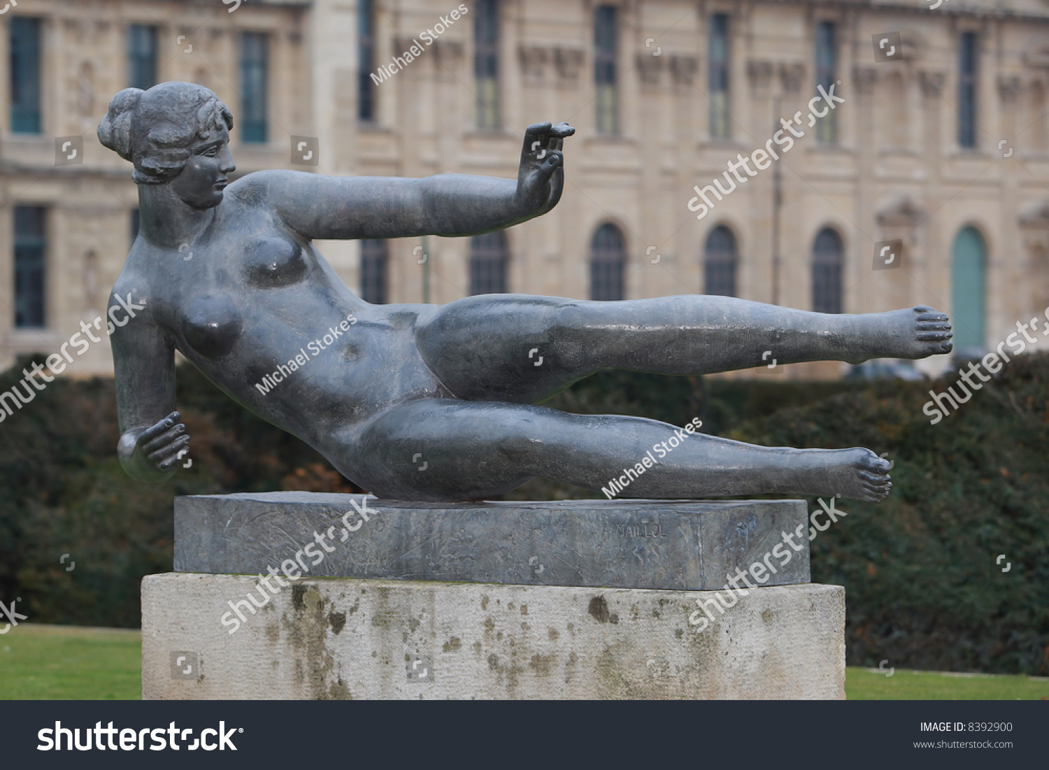Reclining Nude Sculpture Musee DOrsay Paris France Stock