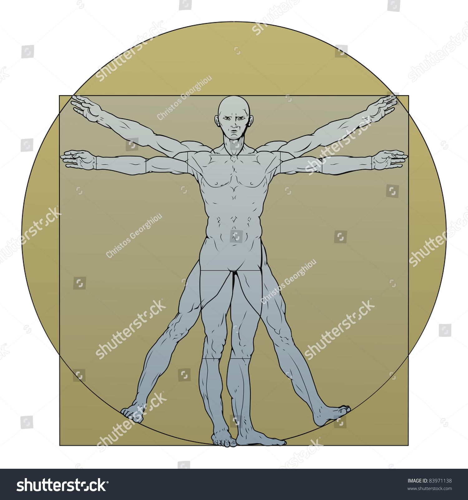 Illustration Based On Leonardo Da Vincis Stock Illustration 83971138