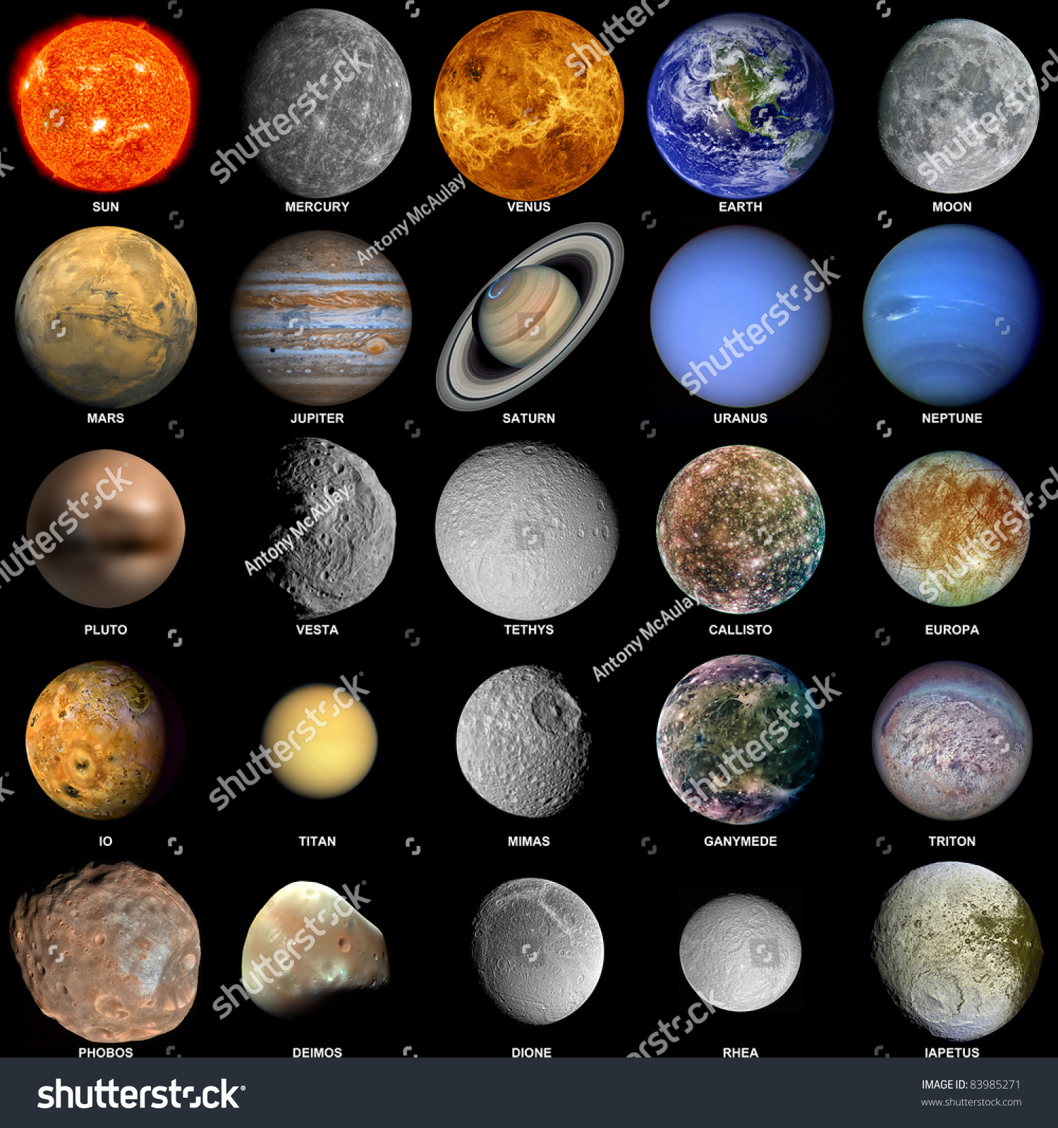 w solar system all planets - photo #34