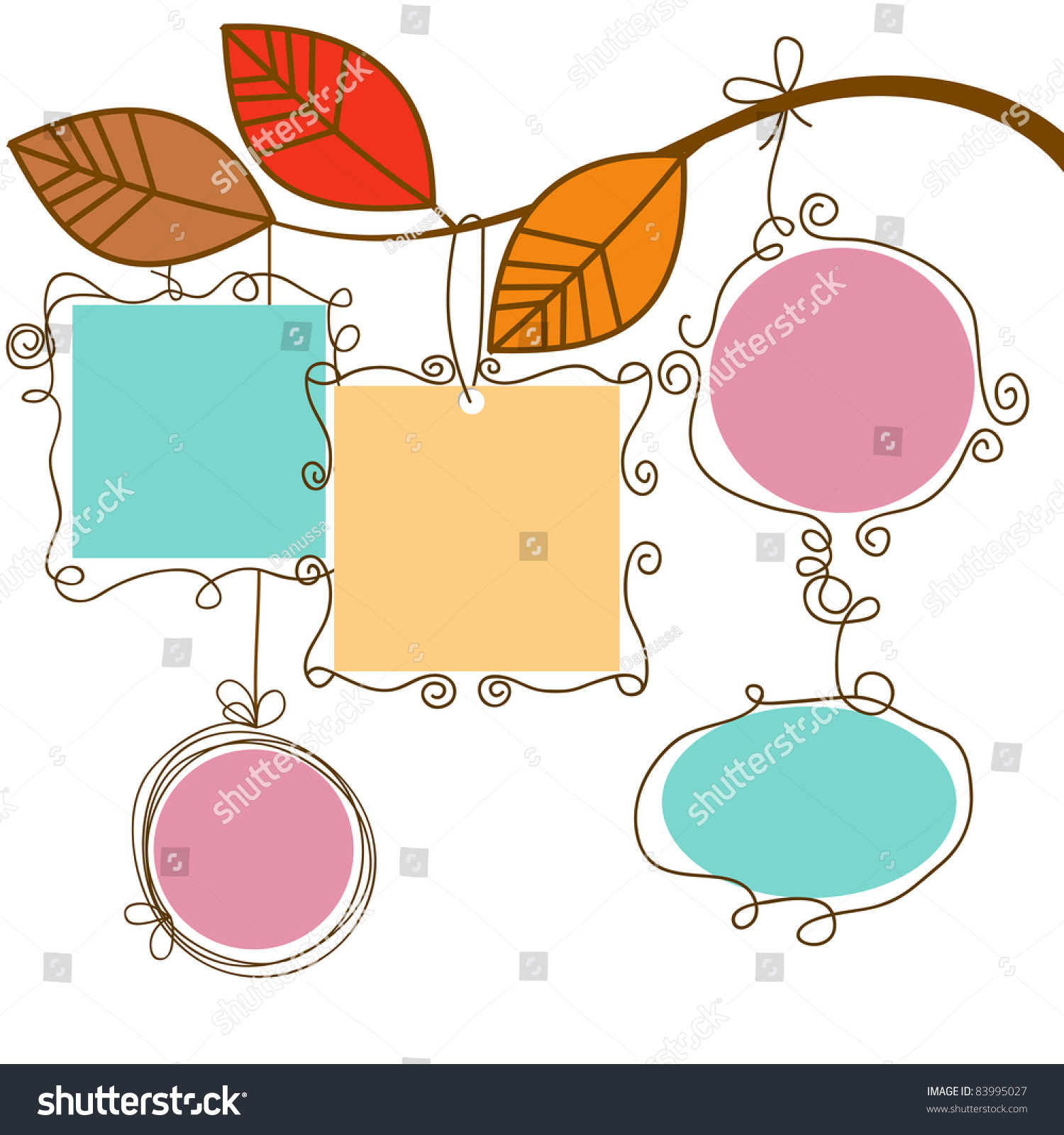 Tree Hanging Picture Frame Clipart