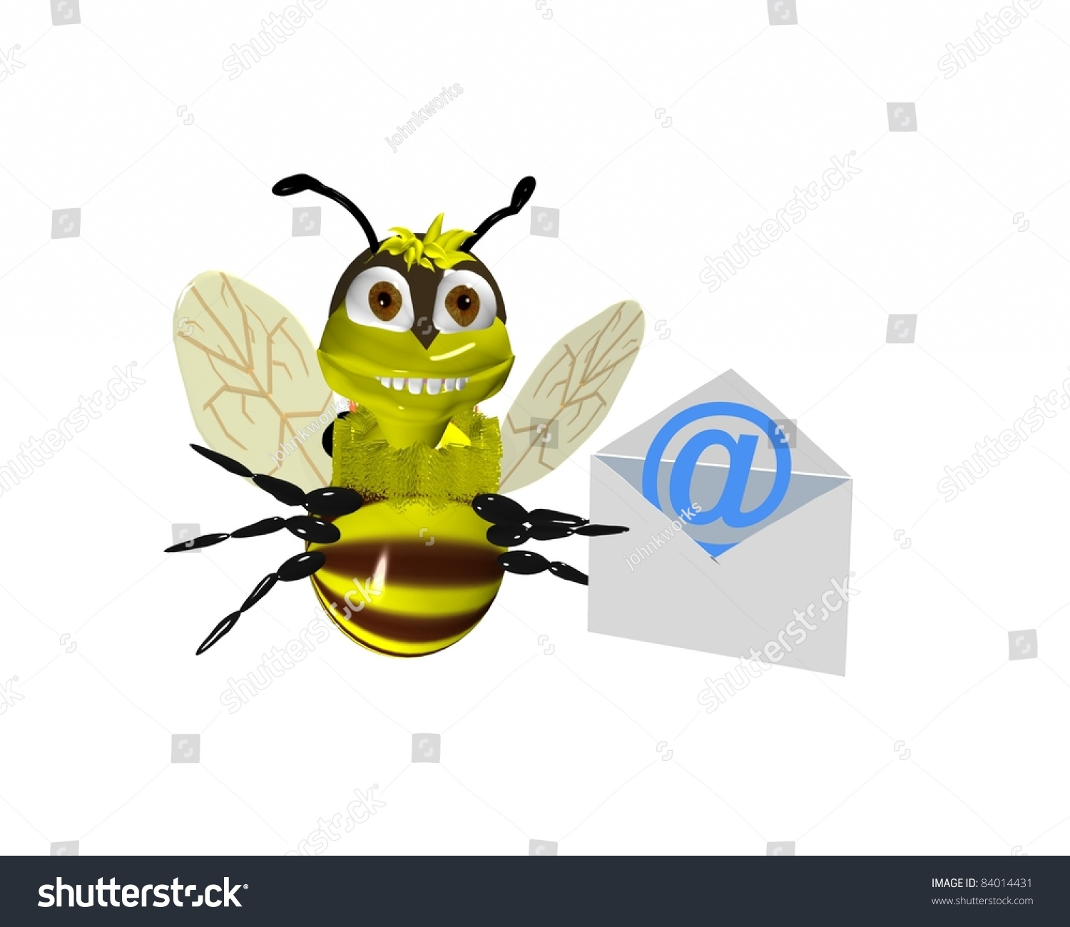 3d bumble bee holding envelope email stock photo 84014431 a 3d bumble bee holding envelope with email symbol biocorpaavc