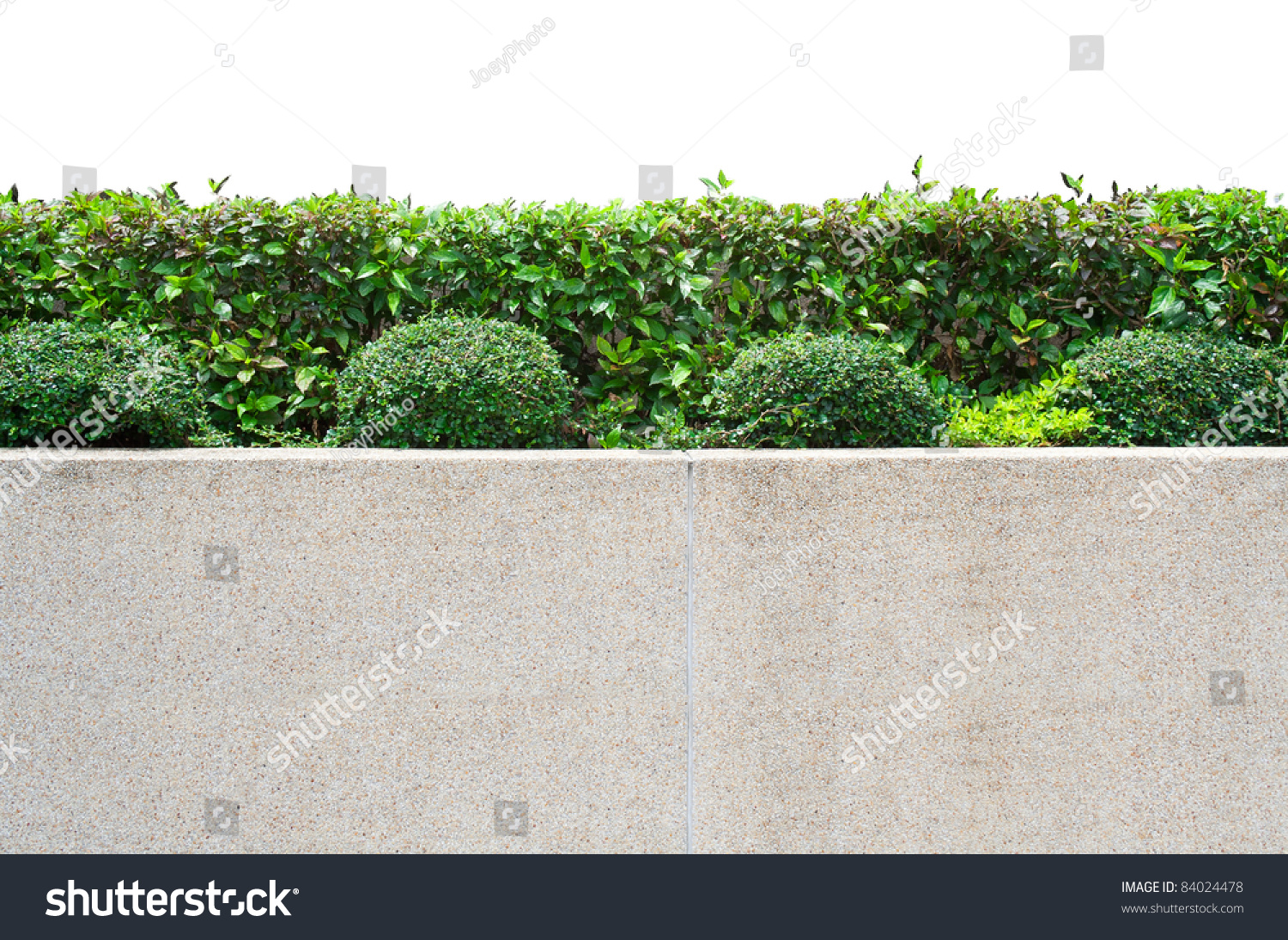 Exterior decoration garden on gravel concrete stock photo for White garden walls