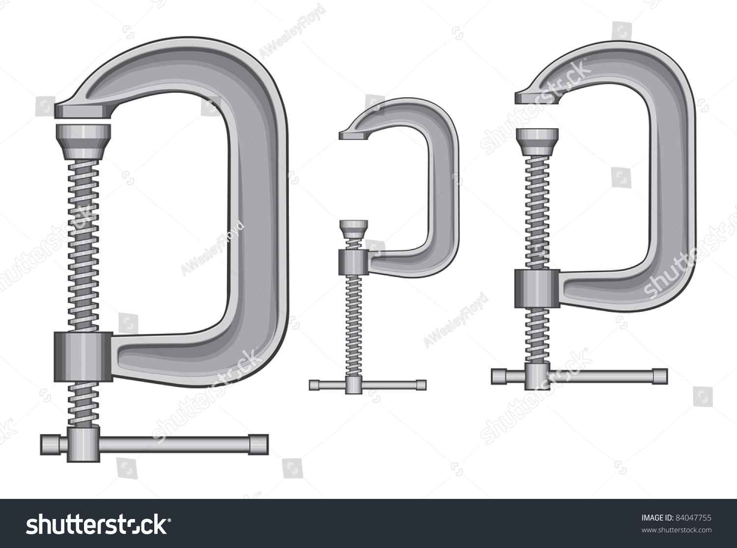 C Clamp Illustration Three Sizes Clamps Stock Is An Of